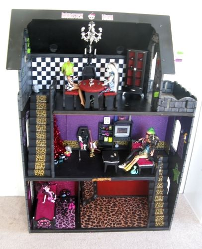 How To Make A Monster High Doll House Monster High Dolls